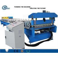 Color Coated Steel Roof Panel Roll Forming Machine With Hydraulic System
