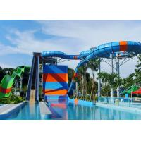 Quality Four Person Huge Water Slide Corrosion Resistance Benzene Type Gel Coat Surface for sale