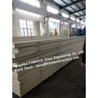 China Polyurethane Walkin Refrigerator Panels , Sandwich Insulated Panels For Cold Storage on sale