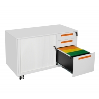 Quality Small Assemble Metal 0.7mm Mobile Caddy Tambour Filing Cabinet 3 Drawer for sale