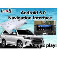 Quality Android 6.0 Video Interface GPS Navigator for Lexus LX 2016-2018 With Mouse and Steering Wheel Control WIFI LX570 for sale