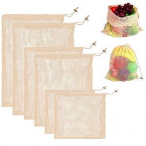 Storage Large Mesh Drawstring Bags Organic Reusable Washable For Shopping