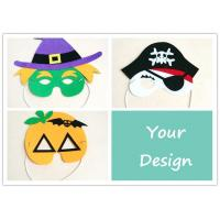 China Felt Diy Mask For Party , Halloween Childrens Party Masks Custom Size on sale