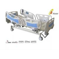Quality Five Function ABS Side Rail Electric ICU Bed With Central Control Brake Wheels (ALS-E507) for sale