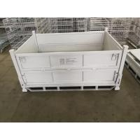 Quality Lightweight Stackable Pallet Box Metal Cage Box Customized Color Easy Operation for sale