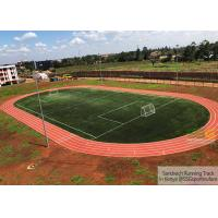 Buy Sandwich PU System Running Track Construction Project Case In Kenya at wholesale prices