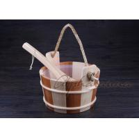 Quality Bottomless Sauna Bucket And Ladle Set Including Plastic Liner For Dry Sauna Accessories for sale