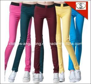 China Elastic Waist Candy Color Slim Multicolour Pencil Pants Legging Brand Jeans on sale