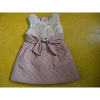 China Big Bow Waist 3 Year Little Girls Winter Dresses Sleeveless With Faux Leather Mini Skirt on sale