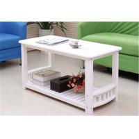 Quality Eco - Friendly White Timber Coffee Table , Stable Construction Small White Round Coffee Table for sale