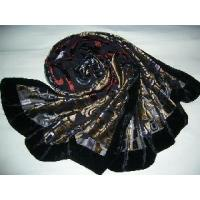 Quality Burntout Silk Velvet Scarf (LC-C215) for sale
