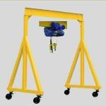 Quality Indoor Hydraulic Gantry Crane / Industrial 5 Ton Mobile Mini Gantry Crane for sale