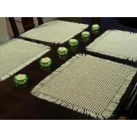 Quality hotel silver decorative metallic table mat for western food for sale