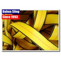 China Yellow Heavy Duty Lashing Straps , 1 Inch Webbing Strap 3000# BS Water Resistant on sale