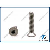 China 304/316/A2/A4 Stainless Steel Flat Head Allen Socket Cap Screw on sale
