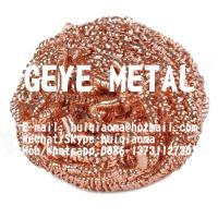 Quality Copper Scouring Pads, Copper Scrubber, Kitchen Cleaning Scourer Balls, Wire Mesh Spiral Copper Scourers for sale