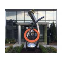 Quality Fine Art Modern Stainless Steel Sculpture Monumental Sculpture 3D Abstract Guitar for sale