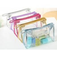 Quality customized transparent waterproof clear zipper plastic travel pvc cosmetic bag for sale