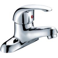 Quality Chrome Polished Two Hole Bathroom tap for Ceramic Basin , Single Lever for sale