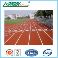 Quality Athletic Synthetic Rubber Flooring / Polyurethane Sports Flooring 0.64 / 48 Friction for sale