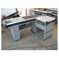 Buy cheap Convenience Shop Conveyor Belt Checkout Counter With Stainless Steel Material product