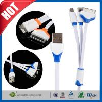China Multifunctional 3 In 1 Micro iPhone 5 Transfer Cable , USB Data Transfer Cable on sale