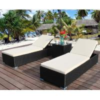 China PE Rattan patio Backyard beach Chaise Lounge chairs Leisure Aluminium Outdoor Garden wicker Chairs on sale