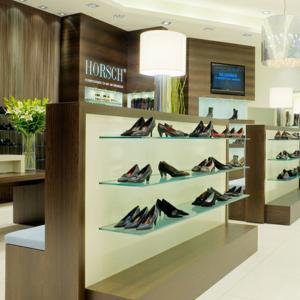 Quality customized fashion shoe shop equipment for retail shoe shelf display for sale
