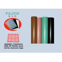 Quality IC Stock Pack Polypropylene Sheet Roll Thermoforming Packaging , Pink Green Black for sale