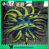 Quality Beautiful Led Inflatable Bend Star Oxford Cloth Lucky Star For Stage Lighting for sale