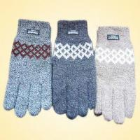 Quality Acrylic Knitted Jacquard Glove with Thinsulate Lining for sale