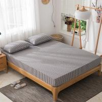 Buy washed cotton bed sheet Japanese style bedspread simple striped fitted sheet bed at wholesale prices