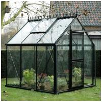 """Quality 2012 """"A"""" shape tempered glass greenhouse HX97208G for sale"""