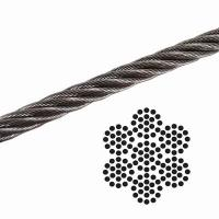 China 1/8 7x19 Galvanized Aircraft Cable , Airplane Cable Breaking Strength 2000 lb on sale