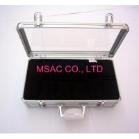 Quality 12 pcs Acrylic Aluminum Watch Carrying Cases for 12 pcs watches for sale