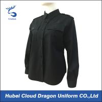 Quality Customized Color Security Uniform Shirts , Police Department Shirts Adjustable Buttons for sale