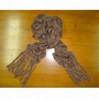 Quality Acrylic Knitted Scarf, Measuring 170 x 18 + 18cm for sale
