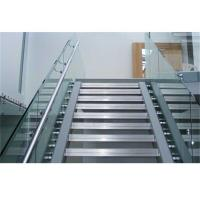 Quality Balcony Frameless Glass Deck Railing Systems Stainless Steel Standoff 850-1200mm Height for sale