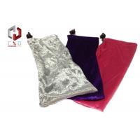 Quality Black White Red Pleuche Pouch With Drawstring 180 * 120mm for sale