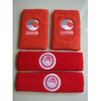 Quality Custom embroidered logo promotion cotton sports wristband and head band for sale