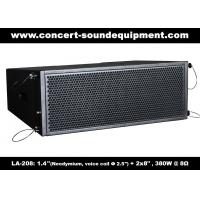 """Buy cheap 380W Compact Double 8"""" Line Array Speaker For Installation , Church , Conference, Nightclub product"""