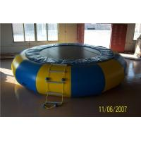Quality Non - Toxic Blow Up Water Trampoline , Outdoor Inflatable Water Toys For Adults for sale