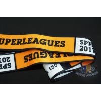 Quality Durable Polyester Sports Award Custom Medals Ribbons , Sublimation Custom Military Ribbons for sale