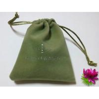 Buy cheap Green Eco - friendly Mini Velvet Drawstring Bag Handmade Velvet Bag from wholesalers