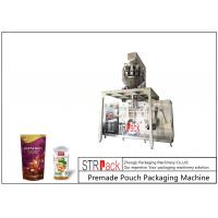China MCU Control Nuts Packaging Machine / Stand Up Pouch Filling Sealing Machine For Peanut on sale