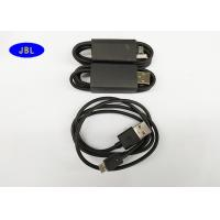 China 800mm Black Smartphone USB Cable Data Transfer / Charging USB Reversible Cable on sale