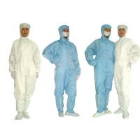 Quality Laundering Durability Clean Room Garments Dust proof ESD Anti Static Coverall for sale