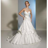 China Backless Elegant Beaded Satin Long Wedding Dresses Of Generous Bra Design on sale