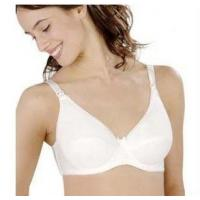 Buy cheap Eco-Friendly Comfortable White 82% ployster 18% Cotton OEM ODM Underwire Nursing Bra product
