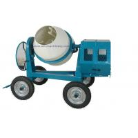 Quality Mini Cement Mixer Rated Overload Concrete Mixer for Cast Iron CogWheel and Rubber Wheels for sale